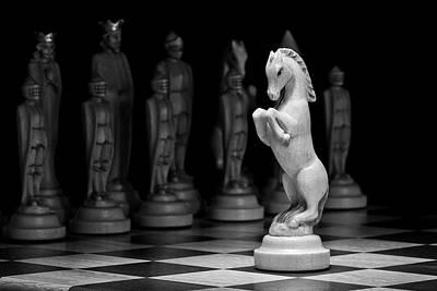 Knight Photograph - King's Court - The Valiant Knight by Tom Mc Nemar