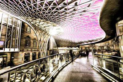 Mixed Media - Kings Cross London Art by David Pyatt