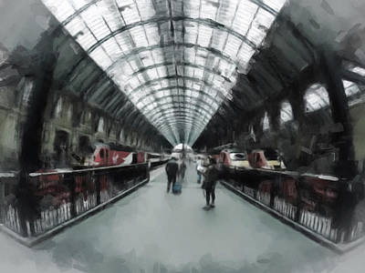 Digital Art - Kings Cross London by Gillian Dernie