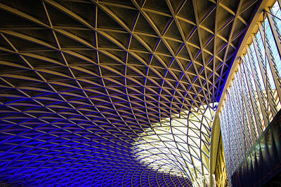 Photograph - Kings Cross Railway Station Roof by Matthias Hauser