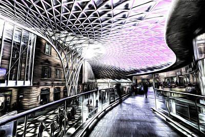 Mixed Media - Kings Cross Station Art by David Pyatt