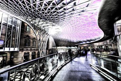 Mixed Media - Kings Cross Station Art by David Pyatt