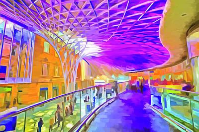 Mixed Media - Kings Cross Station Pop Art by David Pyatt