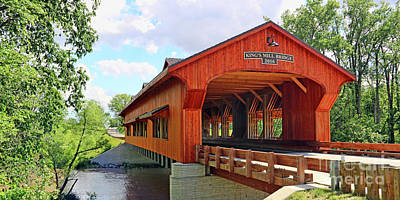 Photograph - King's Mill Covered Bridge  1640 by Jack Schultz