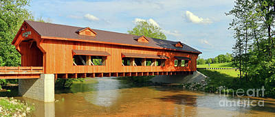 Photograph - King's Mill Covered Bridge  1838 by Jack Schultz