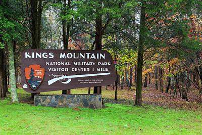 Photograph - Kings Mountain Sign by Jill Lang