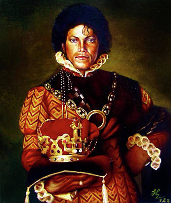 Michael Jackson Oil Painting - King's Weep by Harry Huang