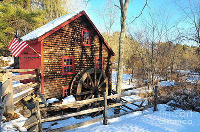 Kingsbury Grist Mill  Art Print by Catherine Reusch Daley