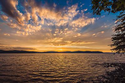 Thomas Kinkade Royalty Free Images - Kingsland Point Park - Setting Sun Royalty-Free Image by Black Brook Photography