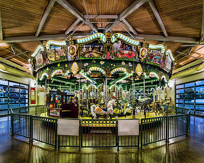 Photograph - Kingsport Carousel by Heather Applegate