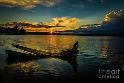 Photograph - Kingston Mills Sunset by Roger Monahan