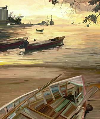 Painting - Kingston Sunset by Brett Winn