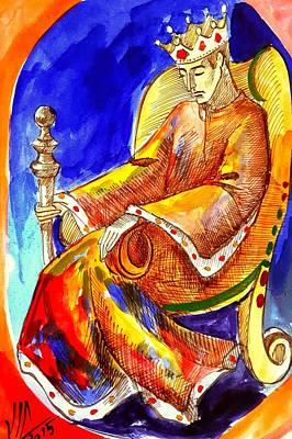 Painting - King.the Black King.the King.chess King.history Of Chess Map  by Vali Irina Ciobanu