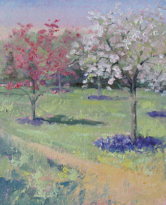 Painting - Kingwood Crabapples by Judy Fischer Walton