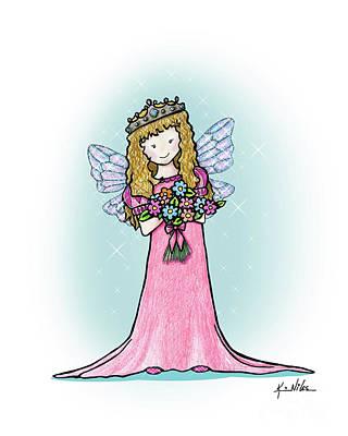Drawing - Kiniart Faerie Princess by Kim Niles