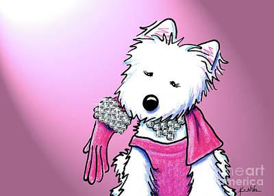 Kiniart Westie Glam Art Print by Kim Niles