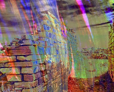 Kinishba Ruins Abstract. Art Print