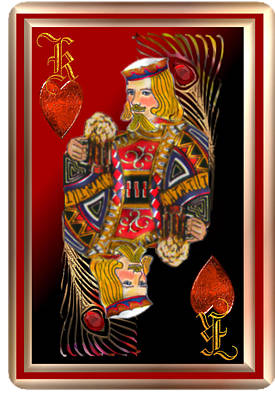 Pastel - King Of Hearts by Pamela Mccabe