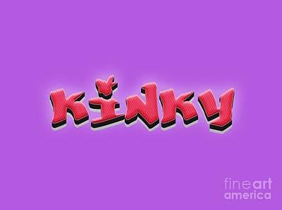 Kinky Tee Art Print