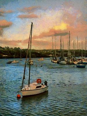 Painting - Kinsale Harbour Evening by Jeff Kolker