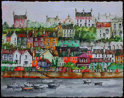 Painting - Kinsale Panorama, West Cork by Val Byrne