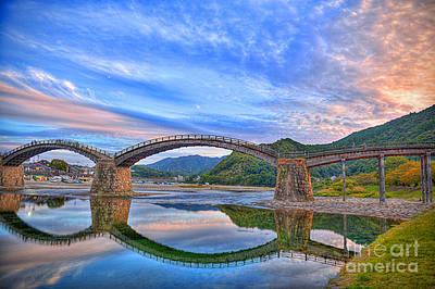 Kintai Bridge Japan Art Print by Rod Jellison