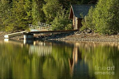 Kintla Lake Ranger Boat Dock Art Print
