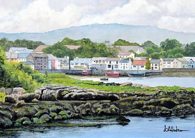 Painting - Kinvara From Dunquaire Castle by Bill Hudson