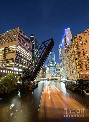 Kinzie Bridge In Chicago Art Print