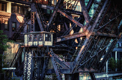 Kinzie Rail Bridge Detail Art Print