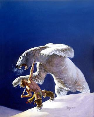 Atlantis Painting - Kioga Of The Wilderness by Richard Hescox
