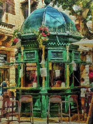 Digital Art - Kiosk Cafe, Valletta, Malta by Leigh Kemp