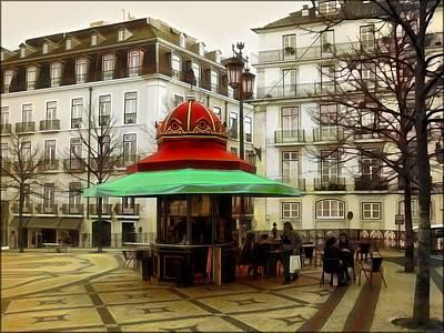 Kiosks Of Lisbon  Original by Daniel  Arrhakis