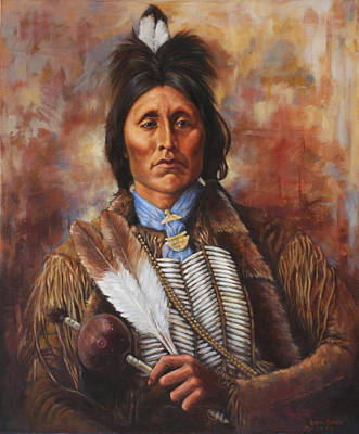 Painting - Kiowa by Harvie Brown