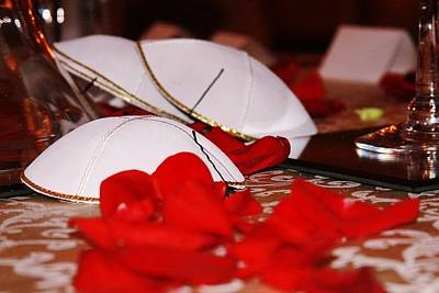 Photograph - Yarmulkes And Rose Petals by Vadim Levin