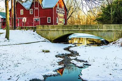 Medford Photograph - Kirby's Mill Landscape - Creek by Louis Dallara