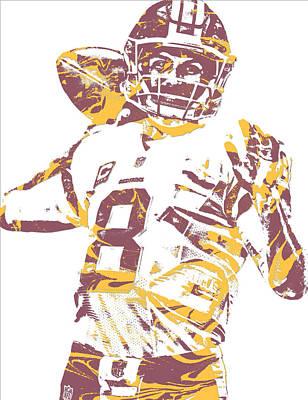 Mixed Media - Kirk Cousins Washington Redskins Pixel Art 10 by Joe Hamilton