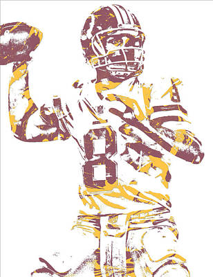 Cousins Mixed Media - Kirk Cousins Washington Redskins Pixel Art 11 by Joe Hamilton