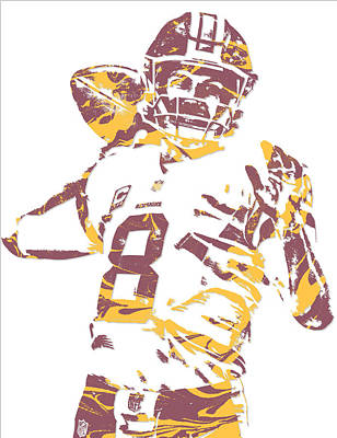 Kirk Cousins Washington Redskins Pixel Art 2 Art Print