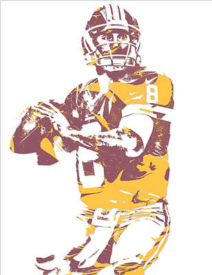 Kirk Cousins Washington Redskins Pixel Art 3 Art Print