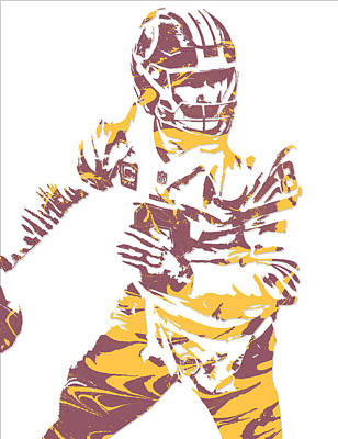 Kirk Cousins Washington Redskins Pixel Art 4 Art Print