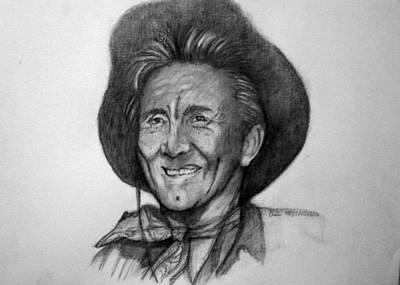 Art Print featuring the painting Kirk  Douglas by Paul Weerasekera