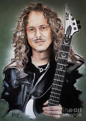 Heavy Metal Mixed Media - Kirk Hammett by Melanie D