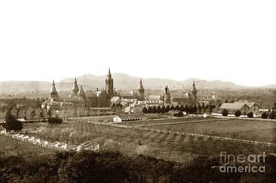 Photograph - Kirkbride At Napa State Hospital In California Circa 1890 by California Views Mr Pat Hathaway Archives