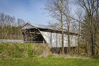 Music Royalty-Free and Rights-Managed Images - Kirker Covered Bridge  by Jack R Perry