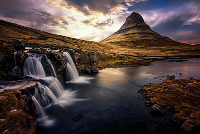 Photograph - Kirkjufell and Foss by Fred Gramoso