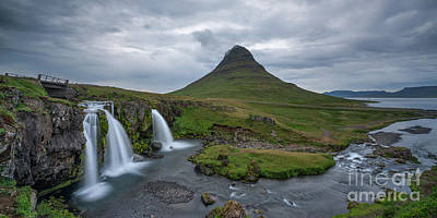 Curated Weekender Tote Bags - Kirkjufell and Kirkjufoss Iceland Waterfall and Mountain by Michael Ver Sprill