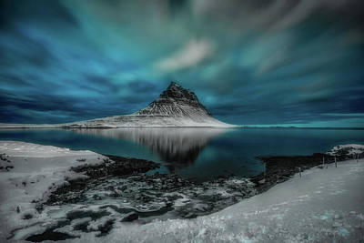 Photograph - Kirkjufell - Cloudy Night by James Billings