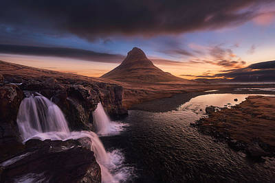 Waterfall Photograph - Kirkjufell Sunrise by Tor-Ivar Naess