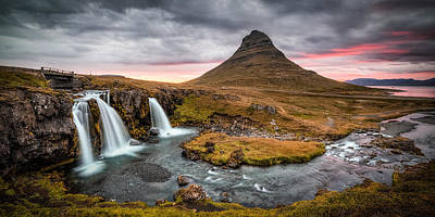 Photograph - Kirkjufellsfoss #3 by Brad Grove